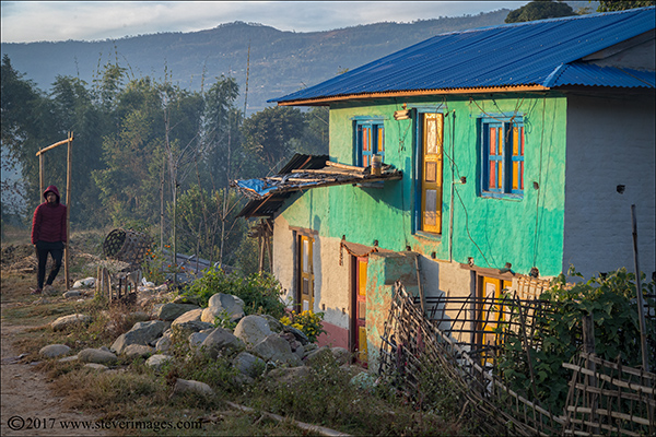 early morning light in Nepal, photo