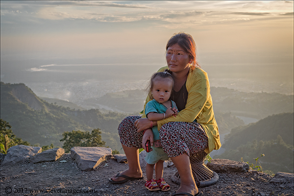 Portrait of mother and child in Nepal, photo