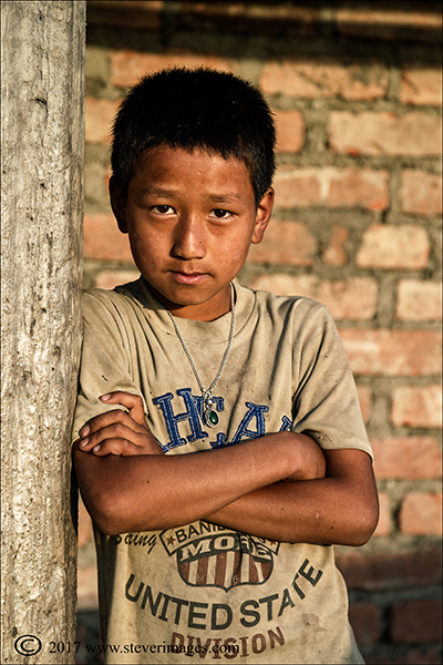 Portrait of young boy in Nepal, photo