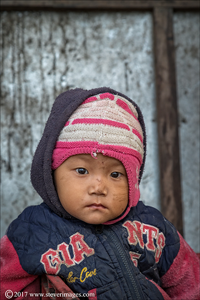 Portrait of child in Nepal