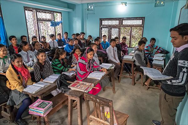 School classroom Nepal, photo