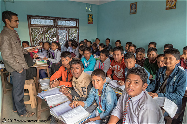 School classroom, Nepal, photo