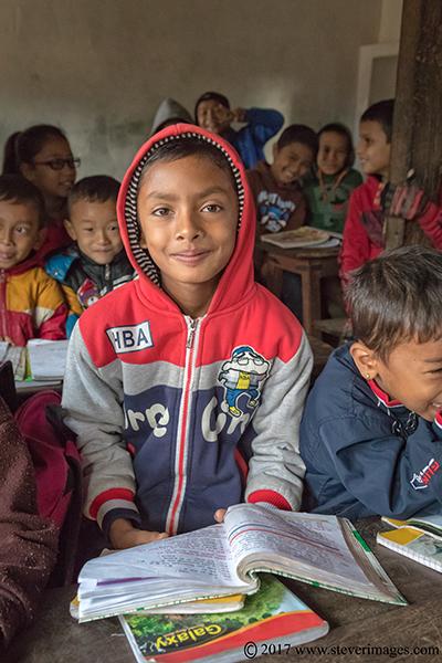 Portrait of school child, Nepal
