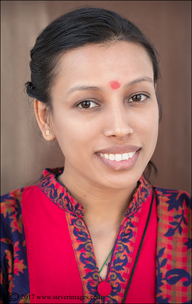 Portrait of young woman in Nepal, photo