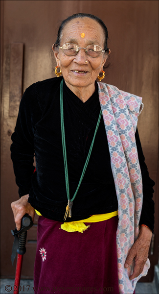 Portrait of elderly woman in care home in Nepal., photo