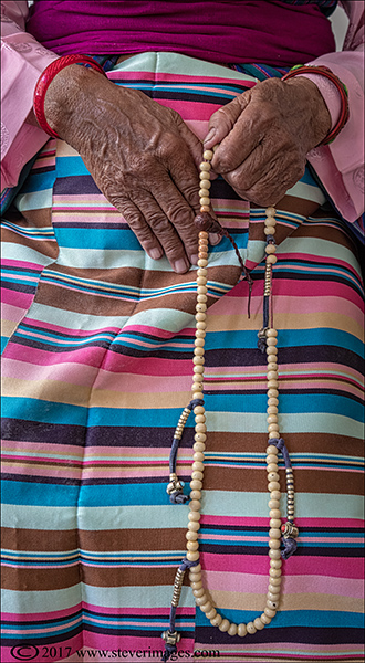Photo of traditional dress in Nepal with beads, photo