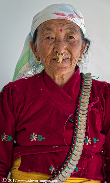 Portrait of Elderly woman Nepal, photo