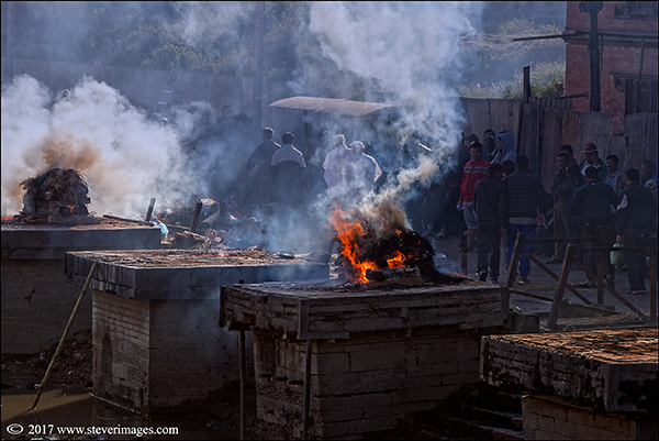 Photo of burning Ghat in Nepal