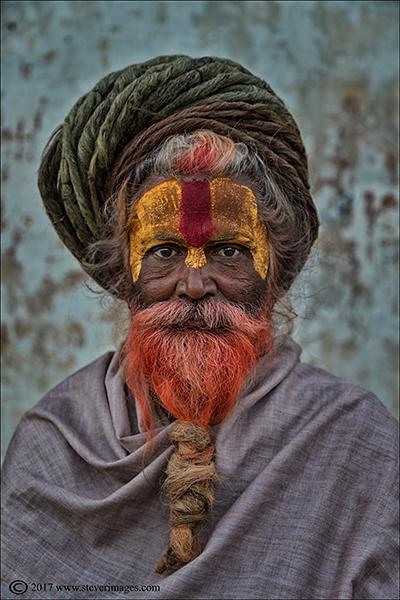 Hindu priest at burning Ghat Nepal, photo
