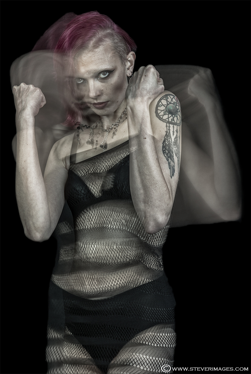 Anger, female model, mental health, subdued colour, photo