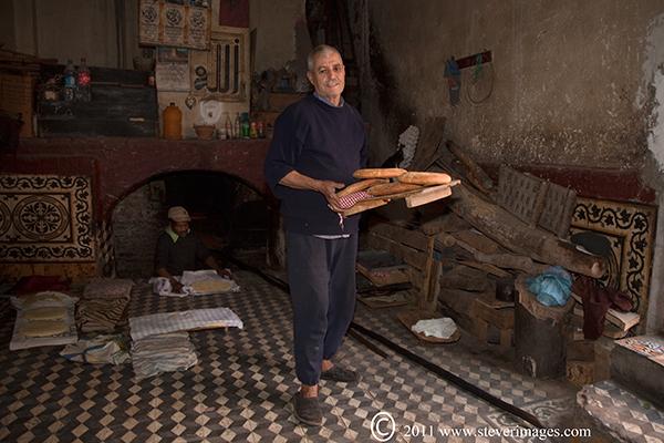 bakery, Marrakech,back streets, bread, photo