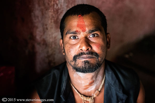 Portrait, Indian religious man, Sonepur Mela, India, photo