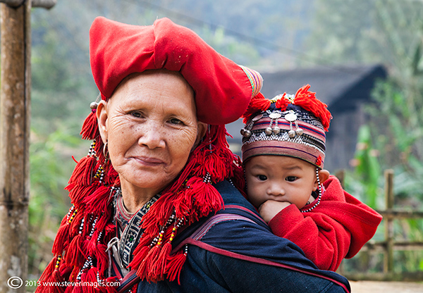 Granmother and baby, people of north Vietnam, photo