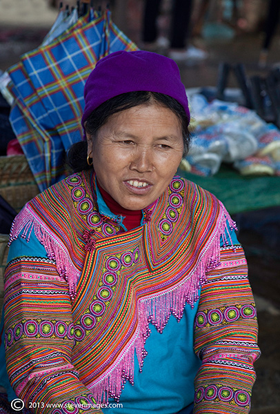 Female portrait, Bac Ha market, North Vietnam, photo