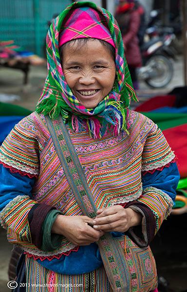 female portrait, Bac Ha market, North Vietnam, photo
