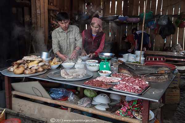 kitchen, Bac Ha market, North Vietnam, photo