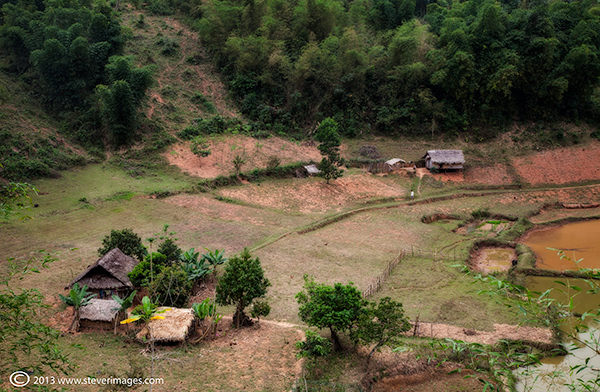 Huts, North Vietnam countryside, photo